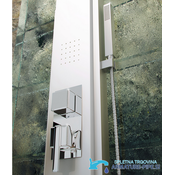Luksuzni masažni nadometni tuš panel iz aluminija EYN TN63459 (Barva - zaključni sloj: Srebrna)