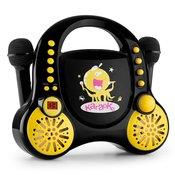AUNA karaoke sestav za otroke Rockpocket + 2 mikrofona, črn