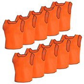 VIDAXL 10x oranžna športna majica, za otroke dres