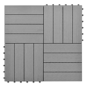 VIDAXL WPC ploščice 11 kosov za 1 kvadratni meter, sive