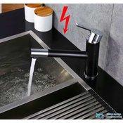 Nizkotlačna črna kuhinjska armatura na tri cevi | Pipa za grelnike EYN NT1555