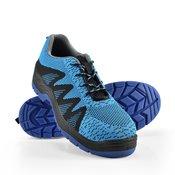 [pro.tec]® Zaščitni delovni čevelj-modro-črn, 43-nizki delovni čevlji športni čevlji Air Mesh