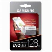 Samsung 128GB EVO+ MICRO SDXC UHS-I class10 U3 4K UltraHD 100MB/s SPOMINSKA KARTICA+ SD adapter