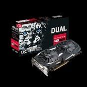 ASUS Radeon RX 580 OC 4GB GDDR5 256bit - DUAL-RX580-O4G  AMD Radeon RX 580, 4GB, GDDR5, 256bit