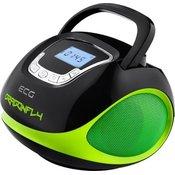 ECG prenosni radio R 500 U, zelen-črn
