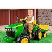PEG PEREGO baterijski traktor John Deere Ground Force s prikolico