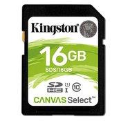 KINGSTON Canvas Select SDHC 16GB class 10 UHS-I - SDS/16GB  microSD, 16GB, UHS U1