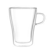 LEONARDO DUO Cup 350 ml O 8,8 cm Handmade Dishwasher Safe Double Walled Clear 054143