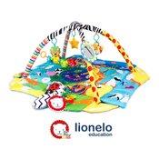 Lionelo djecja podloga za igru - edikativni madrac s igrackama, plava anika