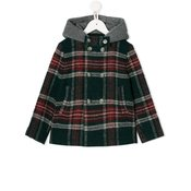 Il Gufo - checked pattern coat - kids - Green