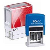 Štampiljka Colop Printer 20, belo-rdeče ohišje + datirka (4mm)-vaš odtis v ceni (38x14mm)
