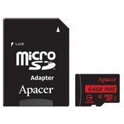 Apacer micro SDHC UHS-I U1 CL10 R85, 64GB