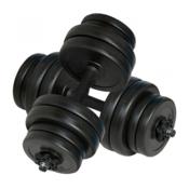VIDAXL utezi za vježbanje 2 x 15 kg