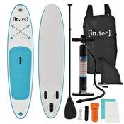[in.tec]® Napihljiva SUP deska paddle board za veslanje stoje 305x71x10cm z aluminijastim veslom in pumpo, turkizna
