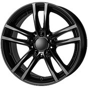 Uniwheels platišča 5x120  ET37  7.5x17  UNIWHEELS X10 črna 72.6 ( BMW 3er (3L/K). X3 )