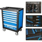 KS TOOLS delavniški voziček s 7 predali in 207 delnim orodjem BT153207