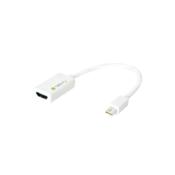 Techly Mini DisplayPort (Thunderbolt) 1.2/HDMI Adapter 15cm White IADAP MDP-HDMIF12