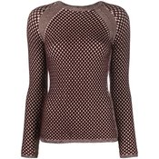 Victoria Victoria Beckham - textured-knit jumper - women - Brown