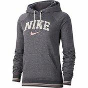 Nike Ženski pulover PULOVER Ž. HOODIE FLC VRSTY Siva