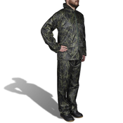 VIDAXL moška dvodelna dežna obleka s kapuco kamuflažni vzorec