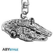 Privezak Star Wars Metal Keychain - Millennium Falcon