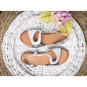 Ravne sandale LS021903 srebrne