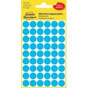Avery Zweckform okrogle markirne etikete 3142, 12 mm, 270 kosov, modre