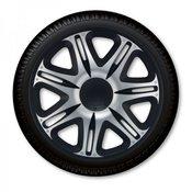 J-TEC okrasni pokrov za platišča Nascar Silver Black 15, 4 kosi