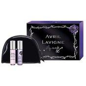 Avril Lavigne Mini Set darilni set parfumska voda Black Star 10 ml + parfumska voda Forbidden Rose 10 ml + kozmetična torbica za ženske