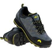 ELBRUS muške sportske cipele Tilbur, Steel Grey/Black/Lime, sivo crne, 41
