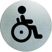 DURABLE piktogram WC invalidi fi 83mm (4906)