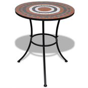 VIDAXL mizica z mozaikom (60cm), terakota-bela