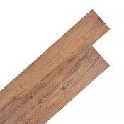 VIDAXL samolepilna PVC talna plošča (5.02m2), orehovo rjava