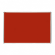 2X3 oglasna tabla - TTA96 Tabla za oglašavanje, 60 x 90 cm, Filc, aluminijum, Crvena