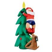 Santa on Tree, Napihljiv Božiček na stromu, 150 cm, kompresor, 6 LED diod ( santaontrree)