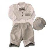 MALI ANÐEO krsno odijelo za djecake komplet sa mašnom i kapom