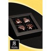Rustika - 4 čokoladna srca