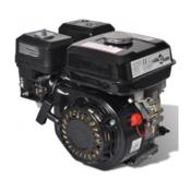VIDAXL bencinski motor (4,8kW), črn