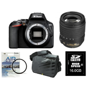 NIKON fotoaparat D-3500 kit z AF-P 18-55VR + Fatbox 16GB + UV filter