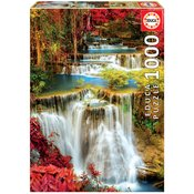 Puzzle Waterfall in Deep Forest Educa 1000 dielov+lepidlo Fix puzzle od 11 rokov EDU18461