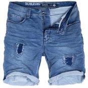 SUBLEVEL moške kratke jeans hlače BARNEY