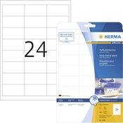 Herma Herma naljepnice za zamrzivače 4389 ( 66 mm x 33.8 mm ), bijele, 600 kom., trajne