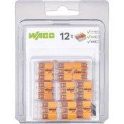 WAGO Povezovalne kleme, fleksibilnost: 0.14-4 mm togost: 0.2-4 mm Polzahl: 3 WAGO 221-413/996-012 12 kos transparentno, oranžno
