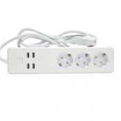 WOOX pametni produžni kabl (beli) - R4028 Tip E, daljinska kontrola (bežicna), IFTTT