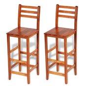 VIDAXL barski stolček iz lesa akacije, 2 kosa