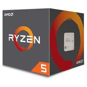 Procesor AMD Ryzen 5 6C/12T 2600X (4.25GHz,19MB,95W,AM4) box with Wraith Spire cooler