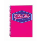 Blok špirala Pukka Pad Jotta Visio A5 200 strani/80gr črtni, roza 8615-VIS