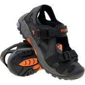 ELBRUS muške sandale Sengat, Black/Orange, sivo narancaste, 46