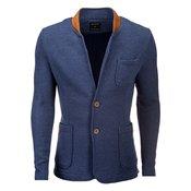 OMBRE CLOTHING moški suknjič Jacques jeans, moder