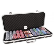 Poker set Deluxe s 500 glinenimi žetoni 13,5gr